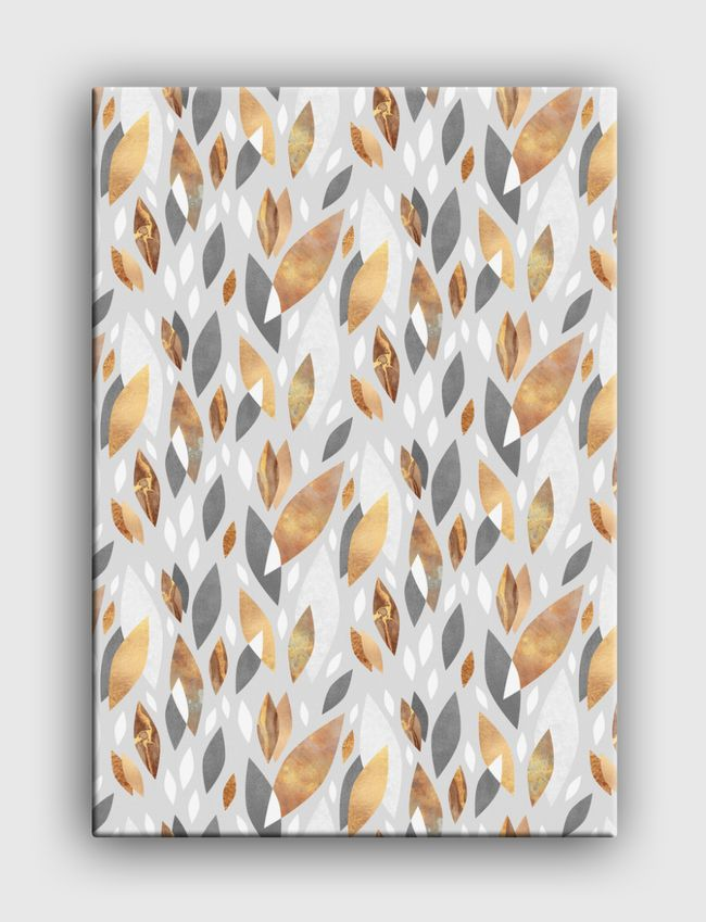 Falling Gold Leaves - Canvas