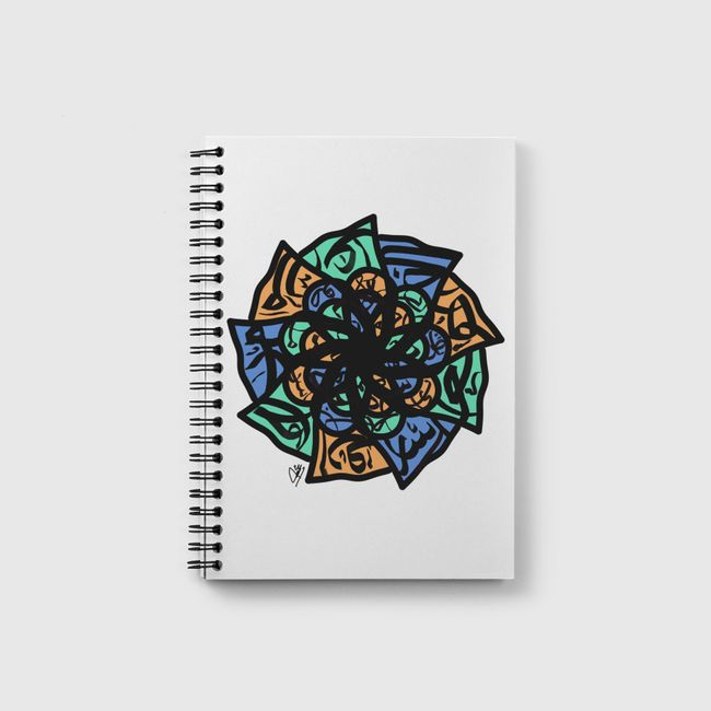 Calligraphic pattern - Notebook