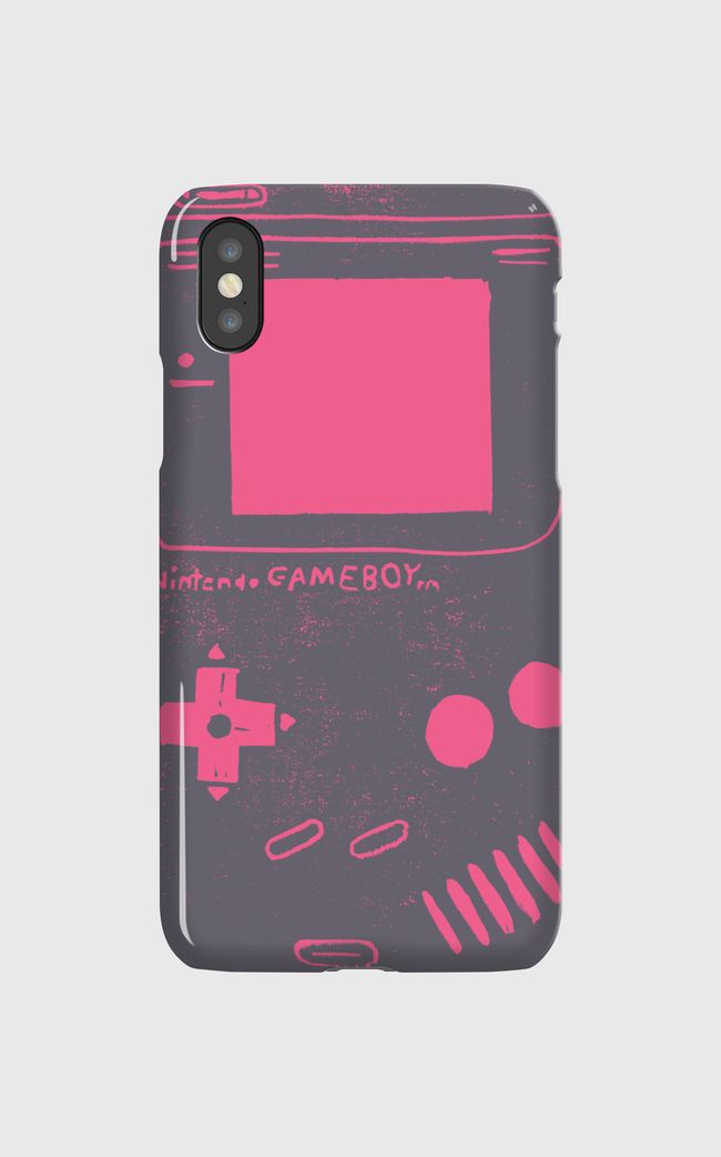 Game Boy Blockprint Pink - iPhone