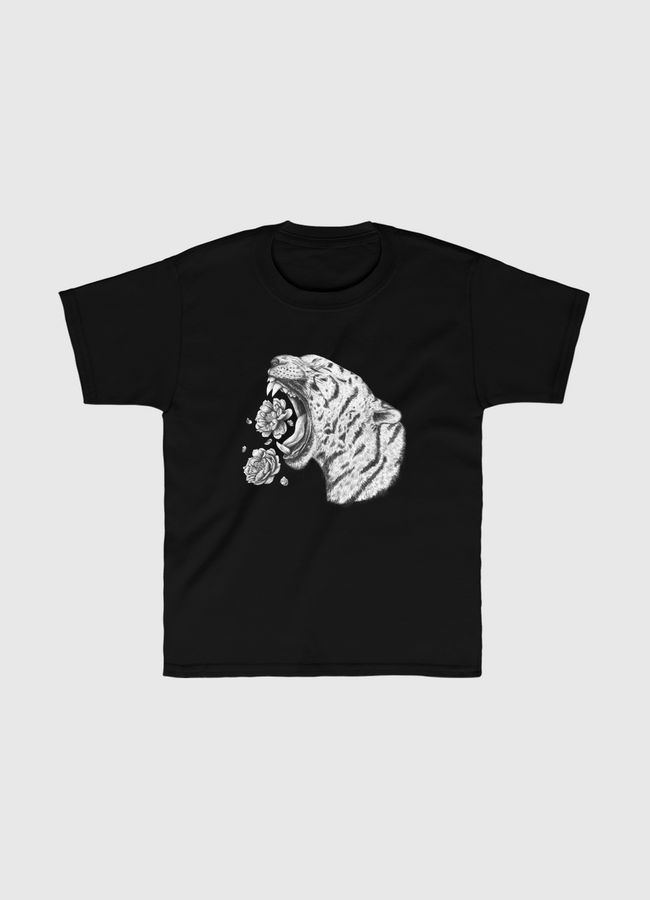 Tiger with flowers - Kids Classic T-Shirt