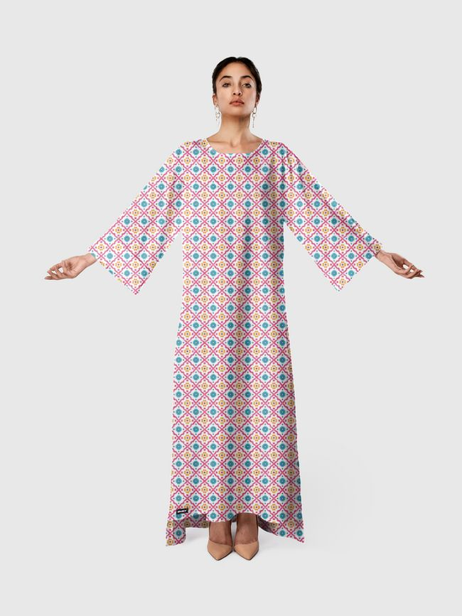 Cheerful Tiles - Long Sleeve Dress